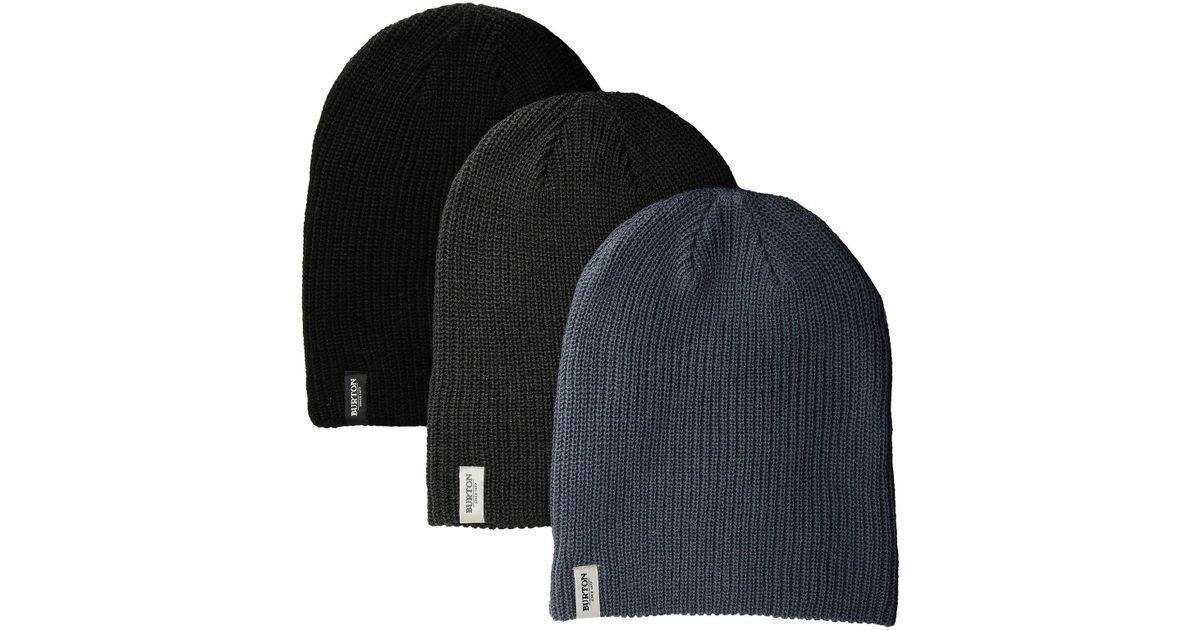 Lyst - Burton Dnd Beanie 3-pack in Black for Men 5a269e4db94