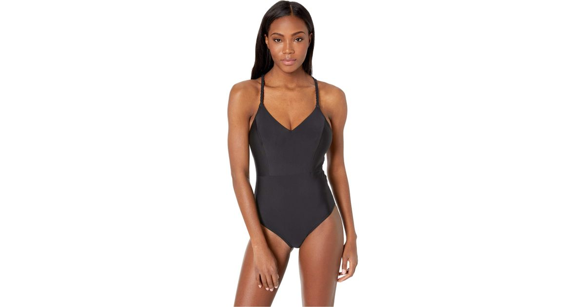 33a16a649b1 Lyst - Prana Talula One-piece (black Solid) Women s Swimsuits One Piece in  Black