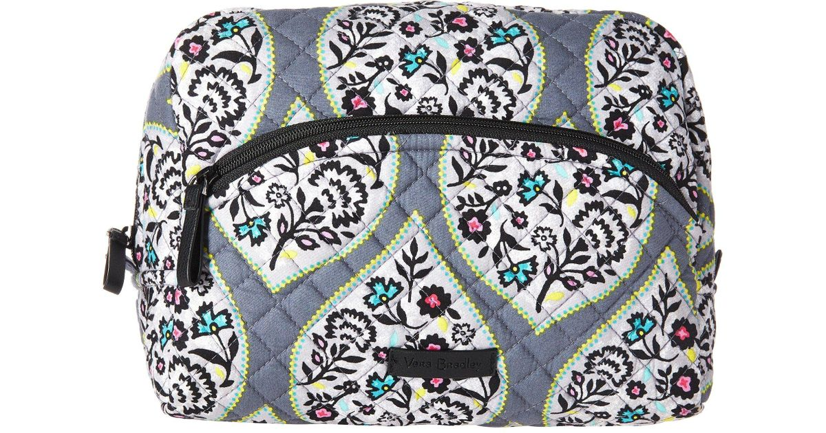 Vera Bradley Cotton Iconic Large Cosmetic Classic Black Cosmetic Case Lyst