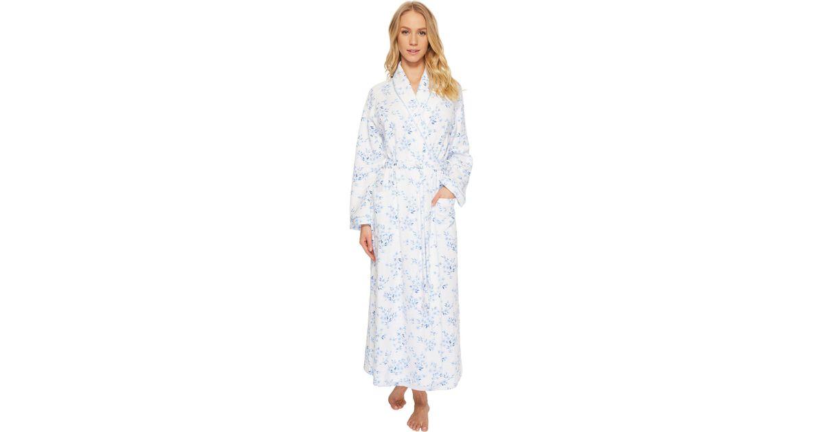 449ff0f0a4 Lyst - Carole Hochman Double Diamond Quilt Long Robe in Blue