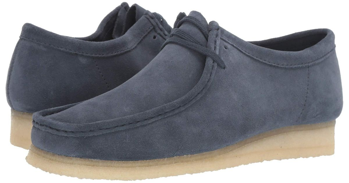 Clarks Leather Wallabee in Navy (Blue
