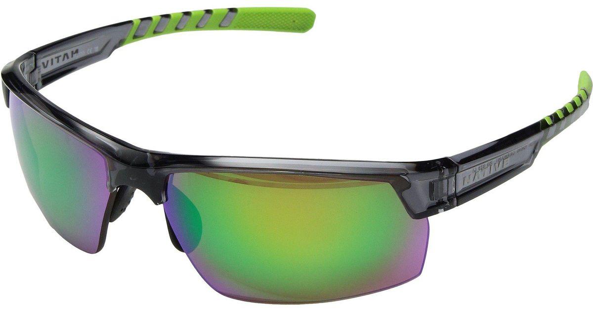 78d220005a Lyst - Native Eyewear Catamount (dark Crystal Gray green Reflex Polarized  Lens) Athletic Performance Sport Sunglasses in Green
