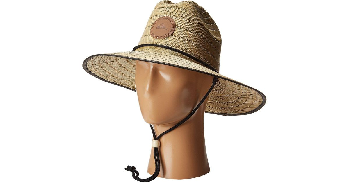 ... promo code lyst quiksilver dredge waterman hat natural bucket caps in  natural for men e1766 89001 6dcbba6ca507