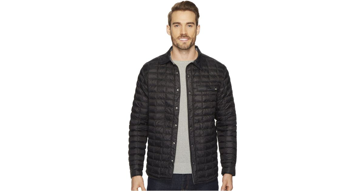 658eca79a The North Face Black Reyes Thermoball Shirt Jacket for men