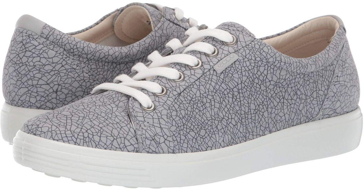 f249fb7d Ecco White Soft 7 Sneaker (black/black) Women's Lace Up Casual Shoes