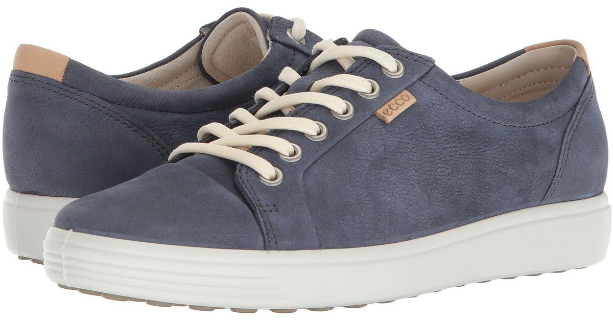 a6070a5b Ecco - Blue Soft 7 Sneaker (white/white) Women's Lace Up Casual Shoes - Lyst