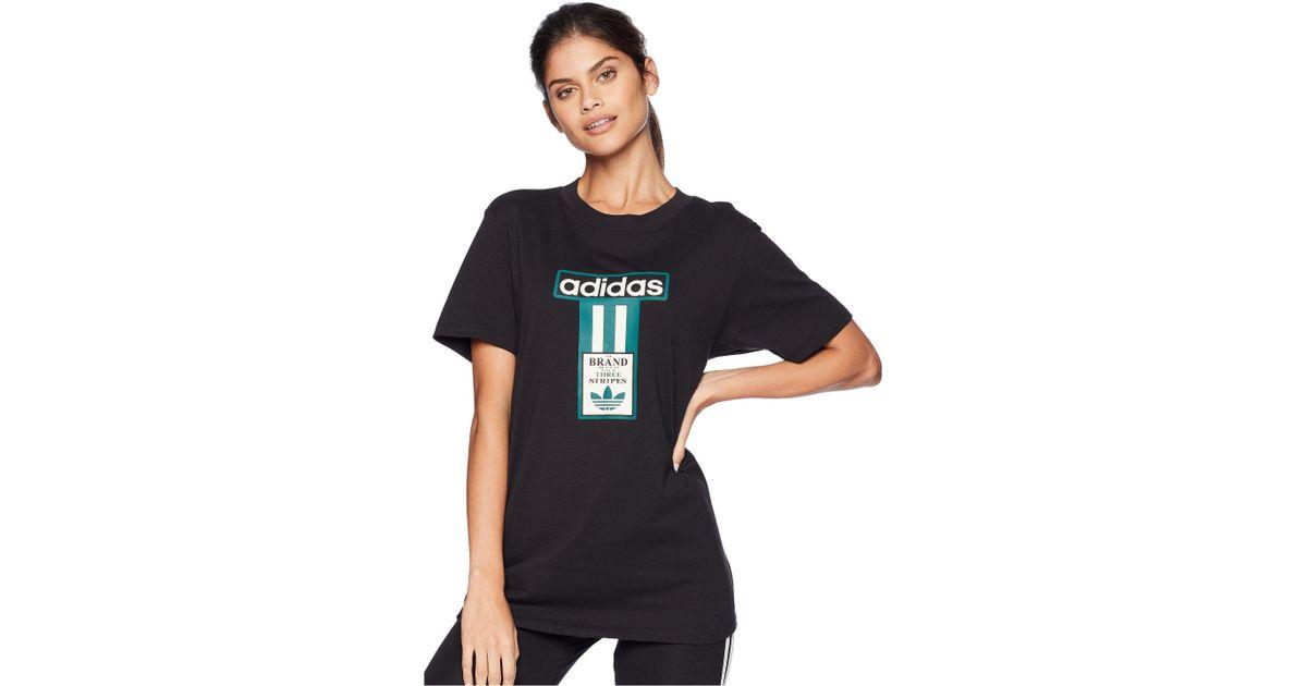 a80228b5c6e adidas Originals Adibreak Logo Tee (black) Women's T Shirt in Black - Lyst