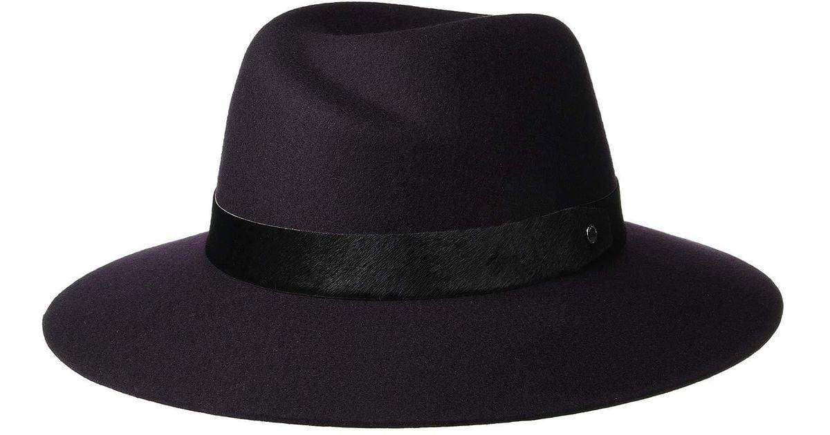 Lyst - Rag   Bone Zoe Fedora (oatmeal) Fedora Hats in Purple 9e151b0aa06