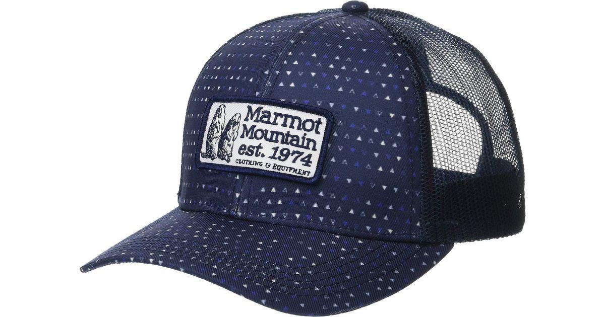 19d6bb259 Marmot Blue Angles Trucker (grey Storm) Caps for men
