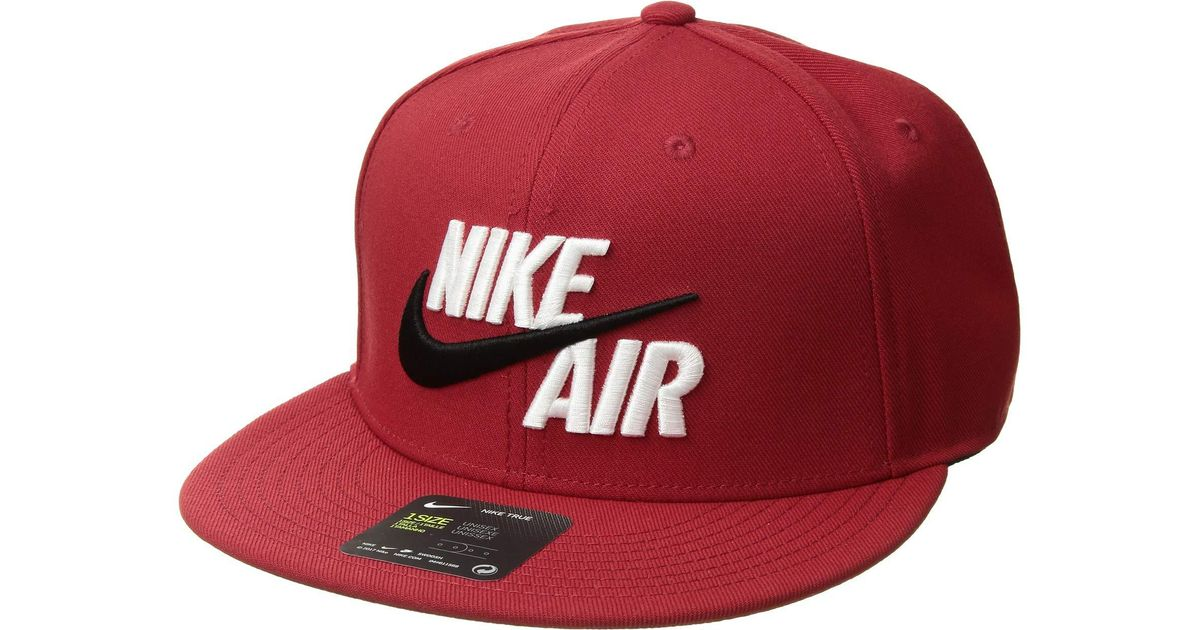 Lyst - Nike Air True - Eos (varsity Red white) Caps in Red for Men 51f7594260fb