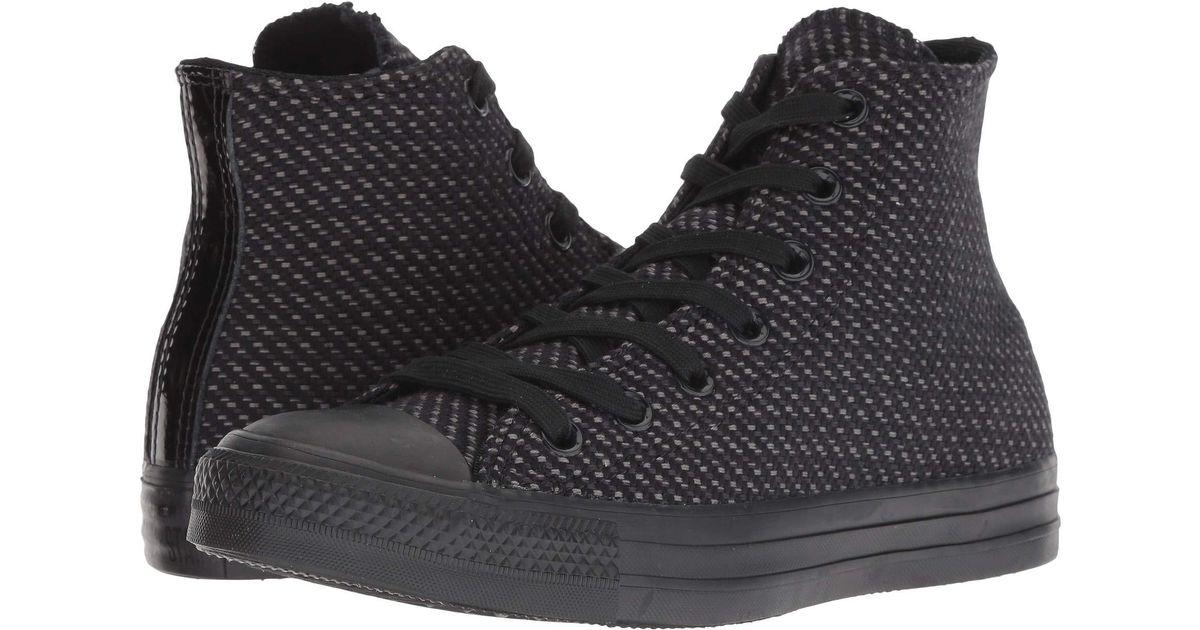 d21eb6e3fac3fb Lyst - Converse Chuck Taylor All Star - Wonderland Hi (white black mason)  Women s Classic Shoes in Black