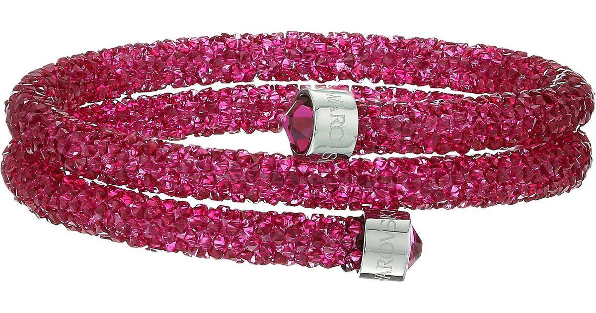 Swarovski Crystaldust Double Bangle Bracelet (pink) Bracelet
