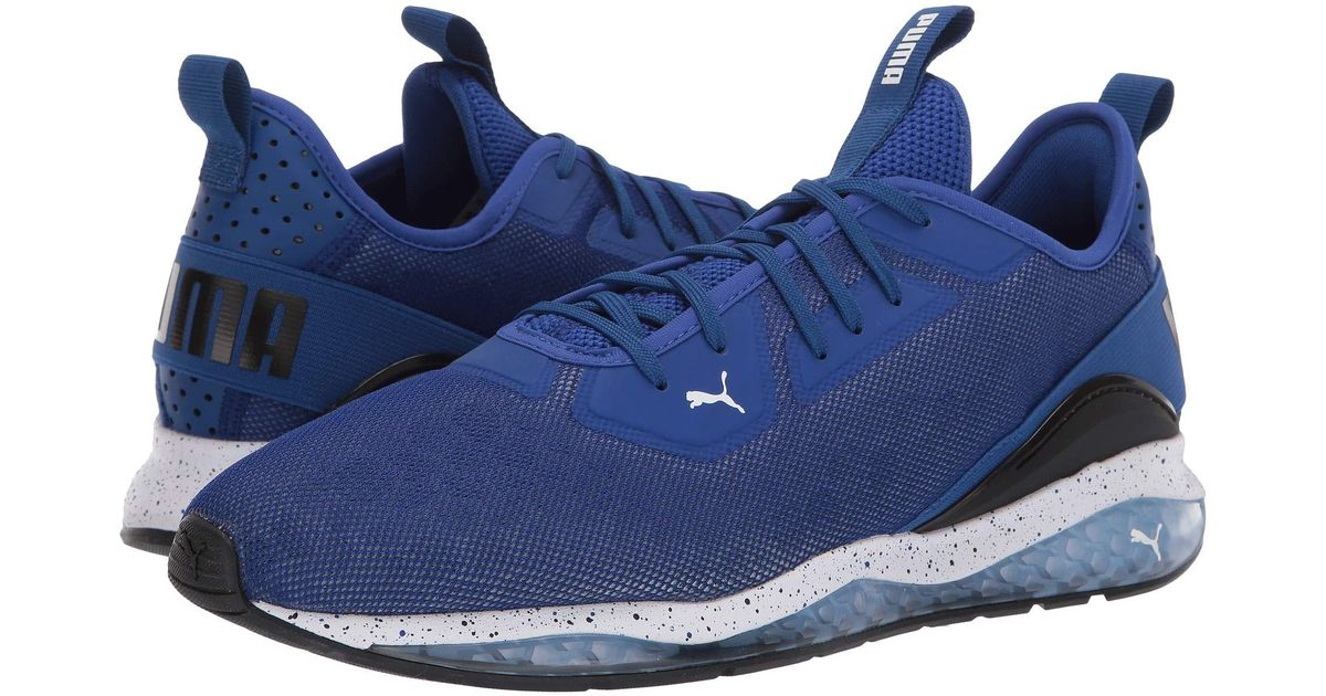 PUMA Blue Cell Ultimate Descend Shift ( Blackhigh Risk Redsurf The Web) Men's Shoes for men