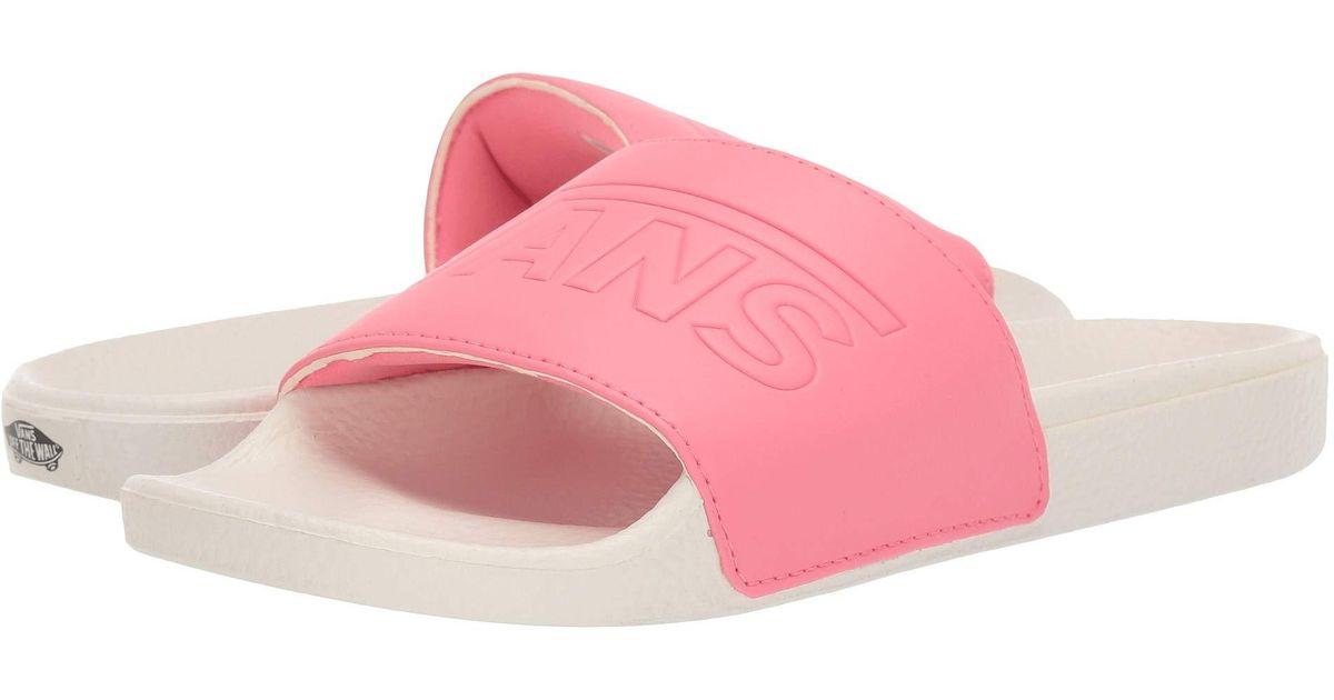 Lyst - Vans Slide-on (() Black) Women s Sandals in Pink c2aa8aa43