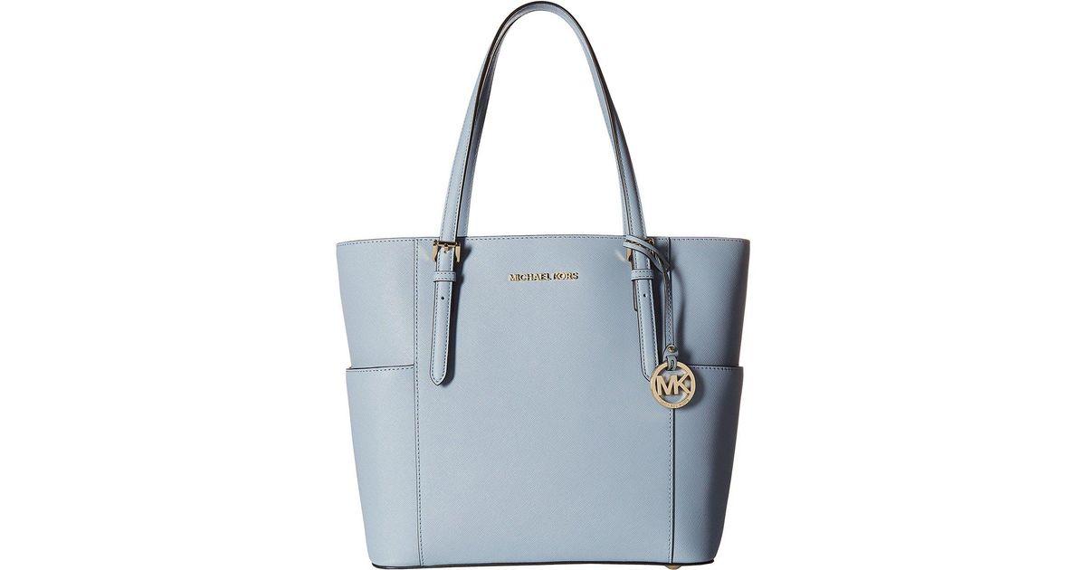 301f68161f0c Lyst - Michael Michael Kors Jet Set Travel Large Tote (soft Pink) Tote  Handbags in Blue