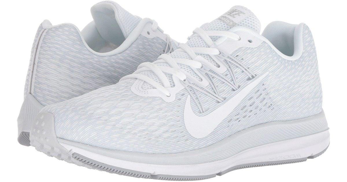 Nike Men's Zoom Winflo 2 Wolf WhiteAnthracite Running