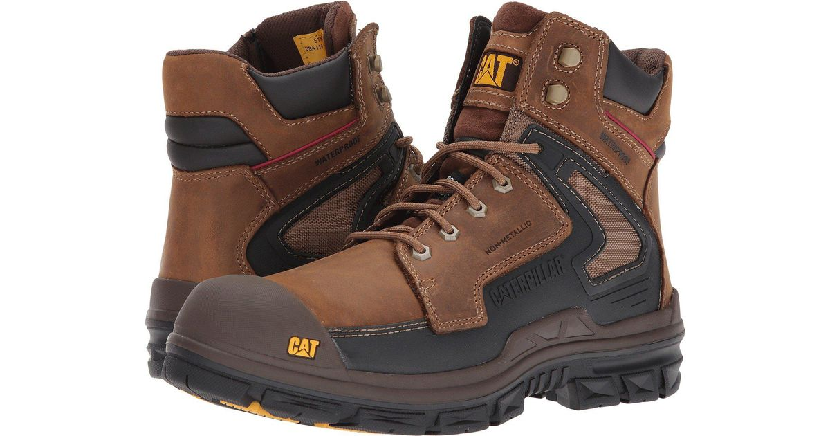 9208d480abd Caterpillar Natural Chassis Waterproof Nano Toe/dark Beige Industrial And  Construction Shoe for men