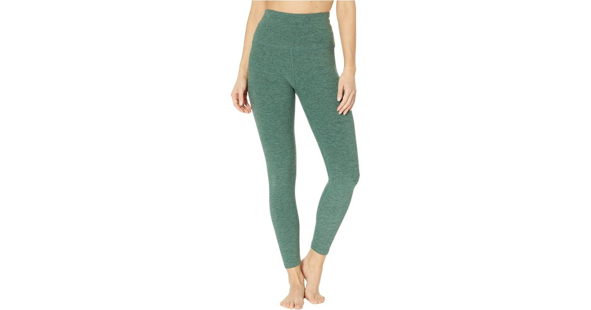 c16d4d2f6e23cc Lyst - Beyond Yoga Spacedye High-waist Midi Leggings (wild Wisteria/brazen  Blush) Women's Casual Pants in Green