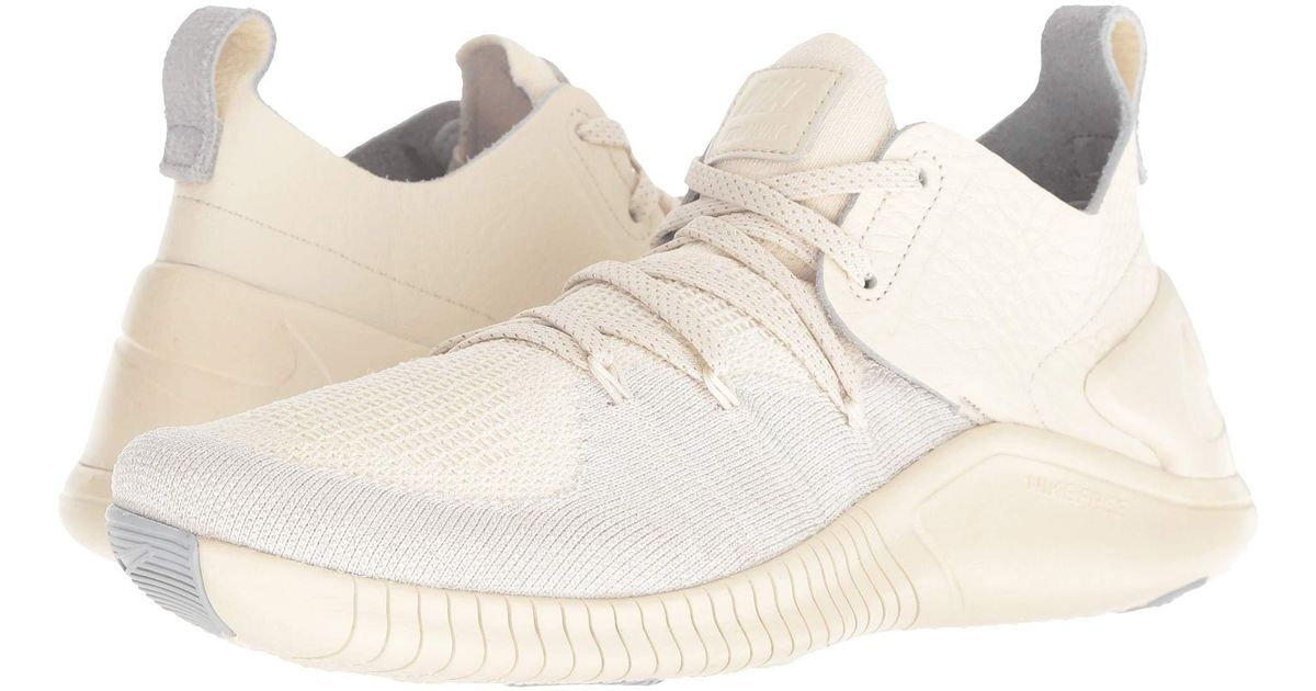 ec8874efae36a Nike Natural Free Tr Flyknit 3 Champagne (light Cream/sail/platinum Tint)  Women's Cross Training Shoes