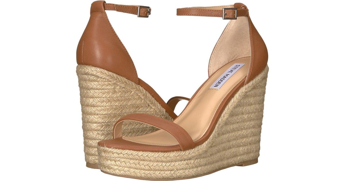 abd5dcc0794 Lyst - Steve Madden Survive (cognac Leather) Women s Wedge Shoes in Brown