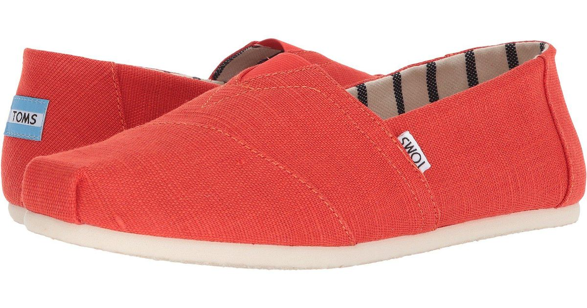 3ada83cd849e3c Lyst - TOMS Venice Collection Alpargata (marine Blue Heritage Canvas) Men s Slip  On Shoes in Red for Men