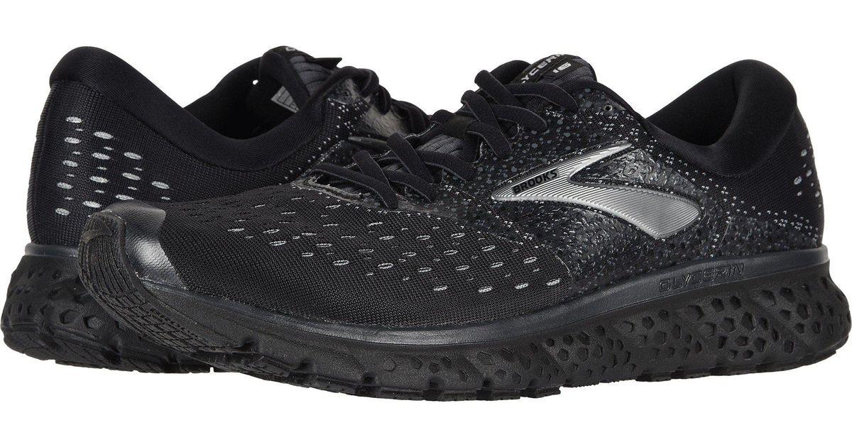 969417379c0 Lyst - Brooks Glycerin 16 (reflective Black white grey) Men s Running Shoes  in Black for Men