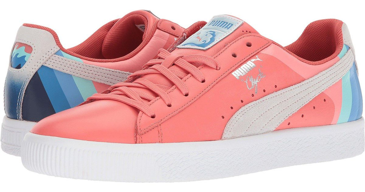 PUMA Leather Clyde - Pink Dolphin - Lyst