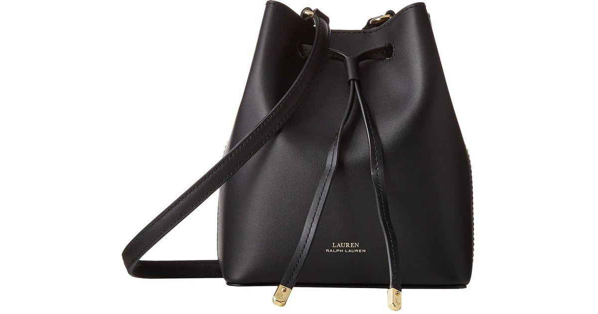 487e9d8590 Lauren by Ralph Lauren Dryden Debby Ii Mini Drawstring (black/crimson)  Handbags in Black - Lyst