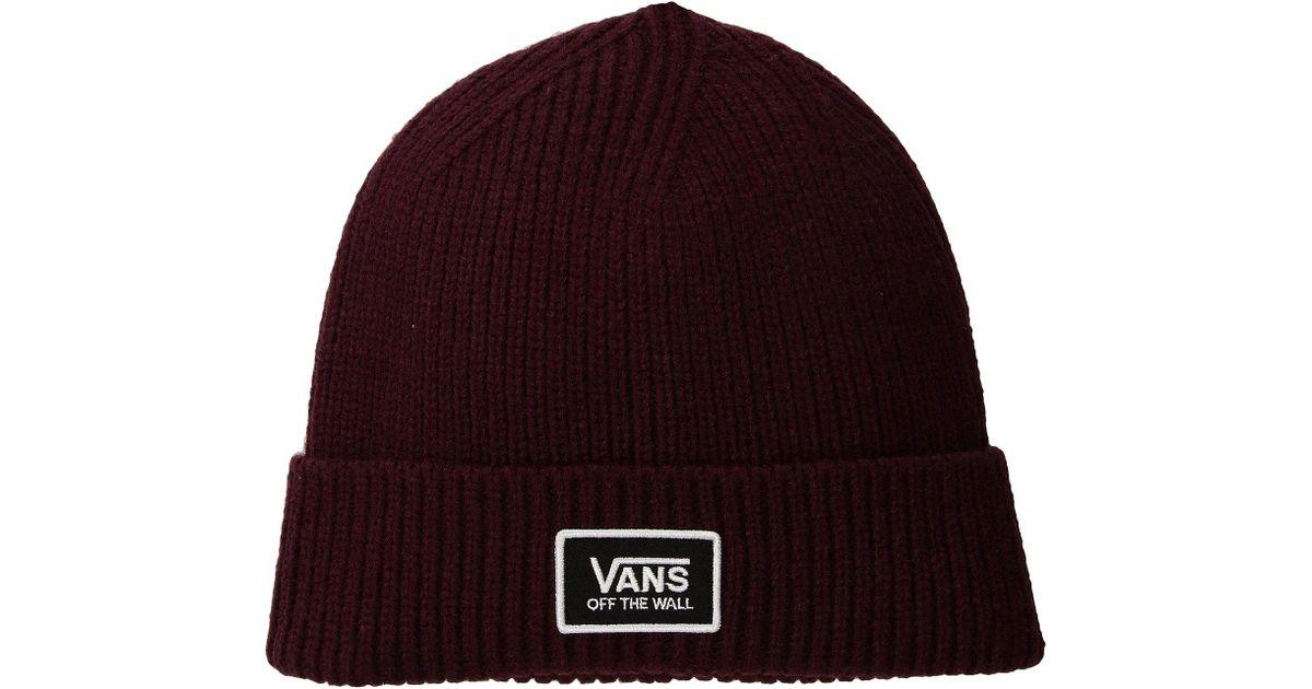 69a023eb7ce Lyst - Vans Falcon Beanie in Purple for Men
