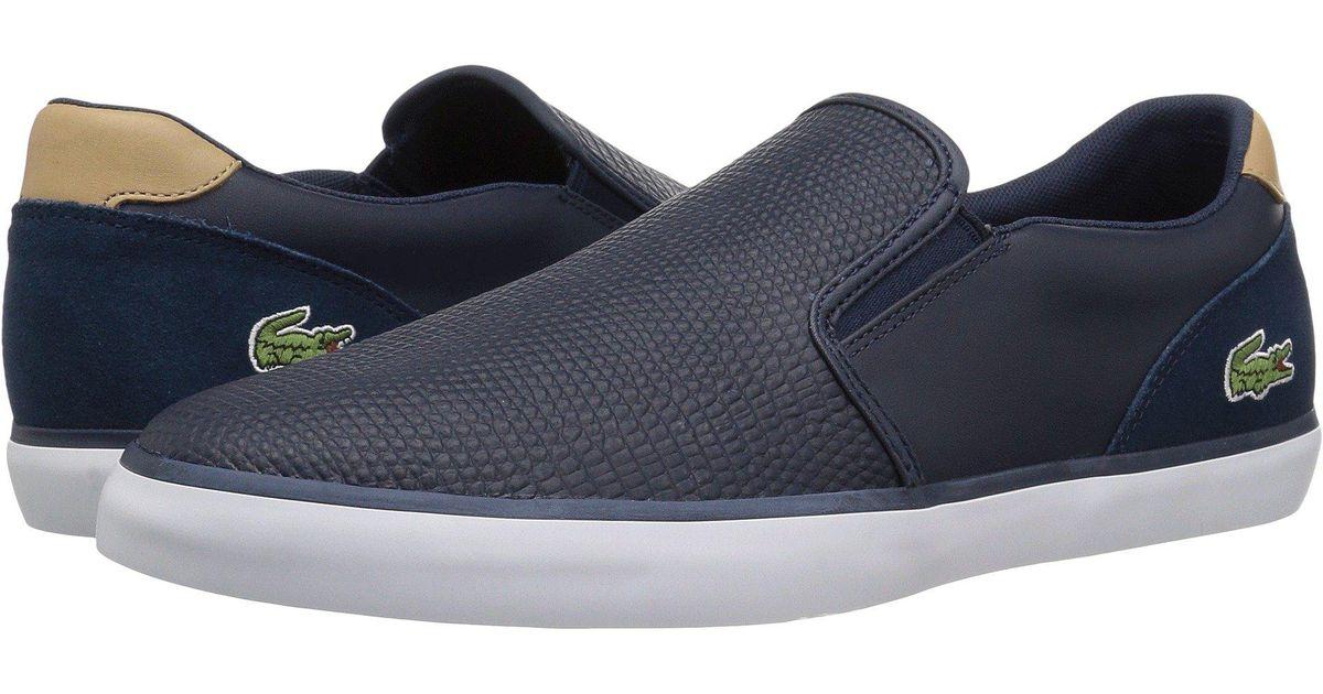 1268d2f9 Lacoste Blue Jouer Slip-on 118 3 (navy/light Tan) Men's Shoes for men