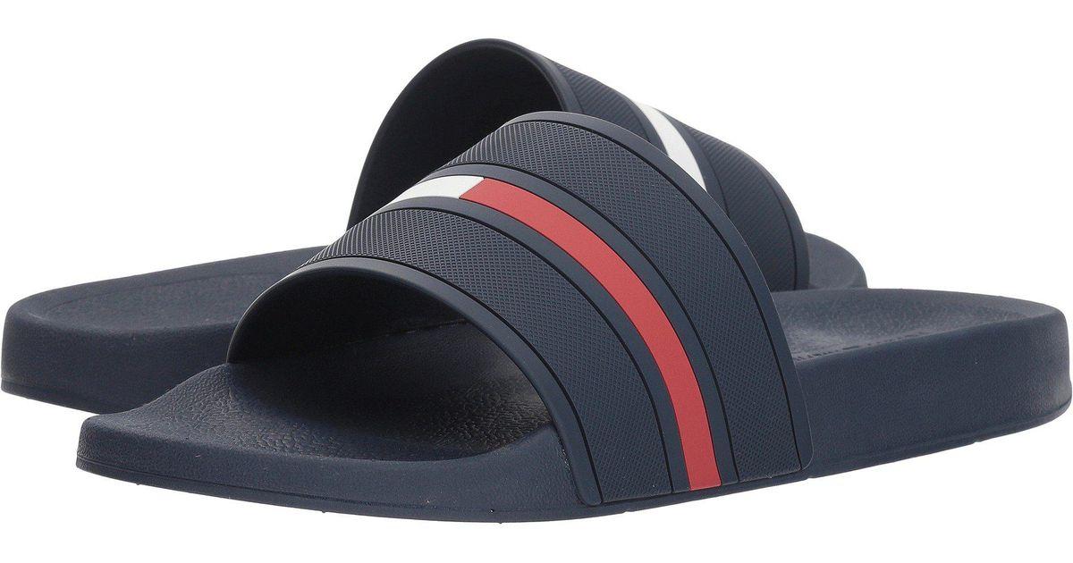 4d7b3a956 Lyst - Tommy Hilfiger Ennis (grey) Men s Slide Shoes in Blue for Men