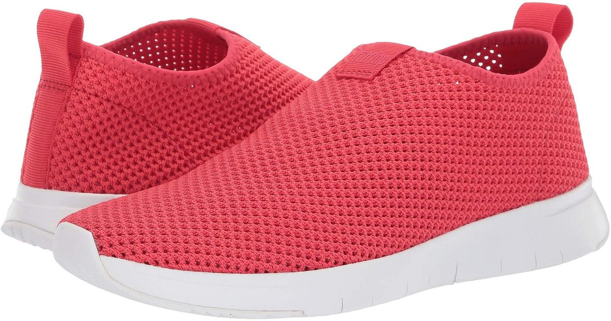 buy popular 75f68 ccc7f Fitflop Red Air Mesh Slip-on