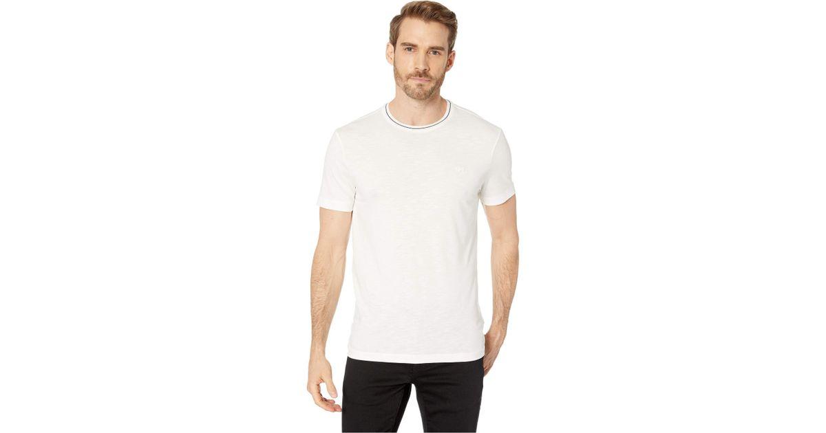 TH3196 Lacoste Mens Short Sleeve Semi Fancy Jersey Regular Fit T-Shirt