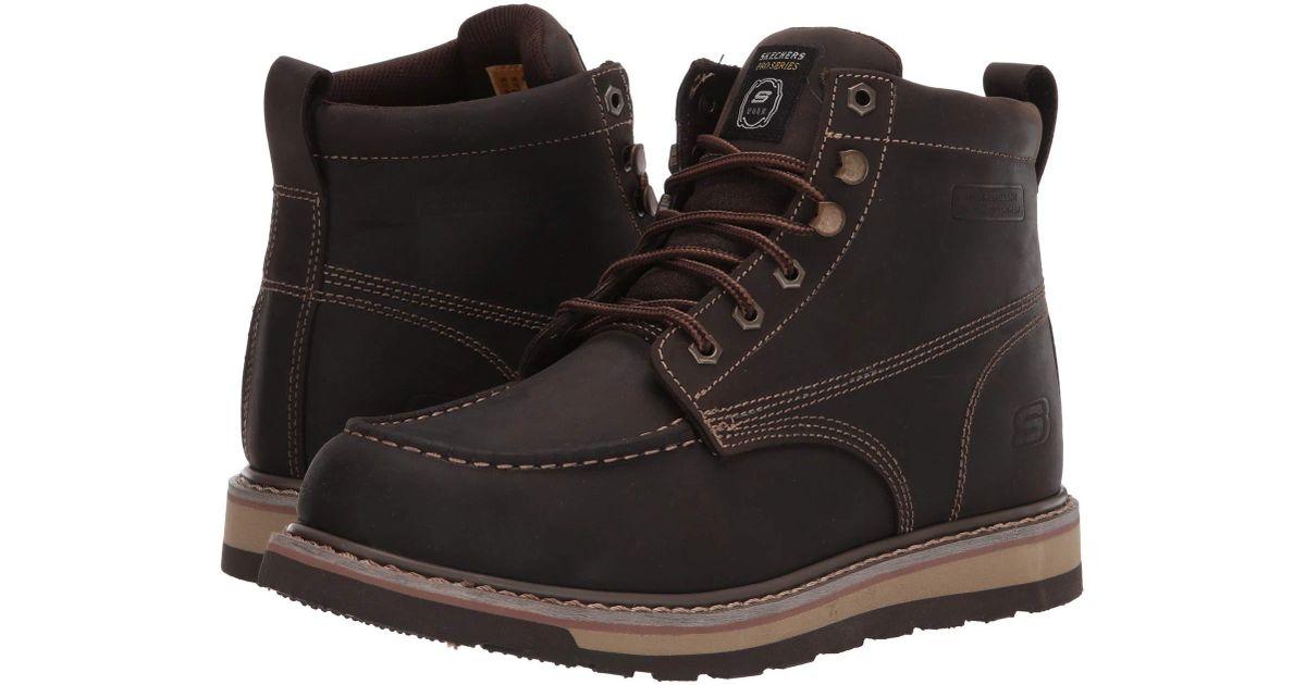 3dce7e9d53 Lyst - Skechers Work Boydton (dark Brown) Men s Work Boots in Brown for Men