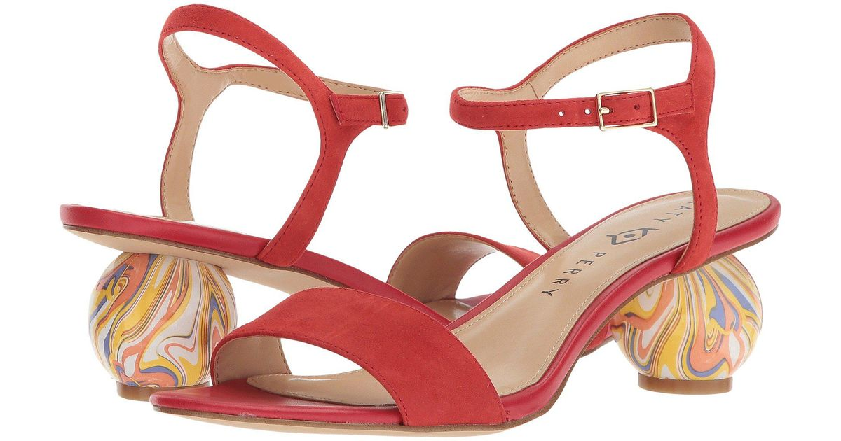 eb0be83a04e Katy Perry Red The Olita Heeled Sandal