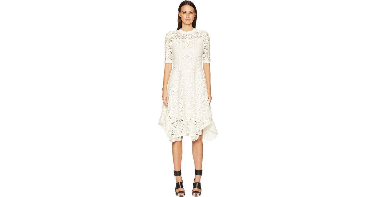 8817f15a87 See By Chloé Lacey Jersey Midi Dress (eden White) Women's Dress