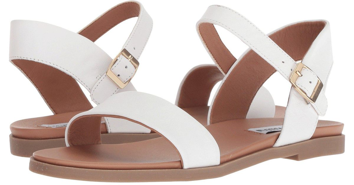 31113a3abe4 Lyst - Steve Madden Dina Sandal (white Leather) Women s Sandals in White