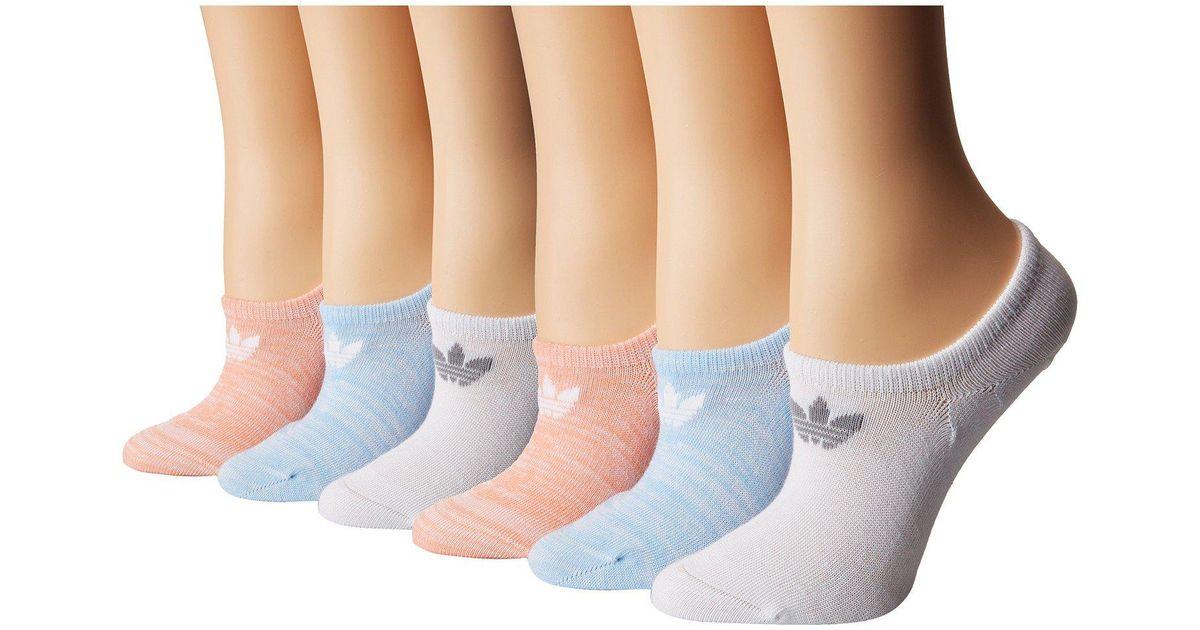 47e53fac74 Adidas Originals White Originals Blocked Space Dye Super No Show Sock 6-pack