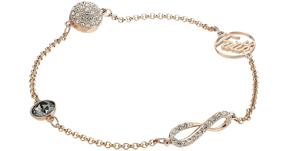 Lyst Swarovski Remix Collection Infinity Symbol Bracelet White
