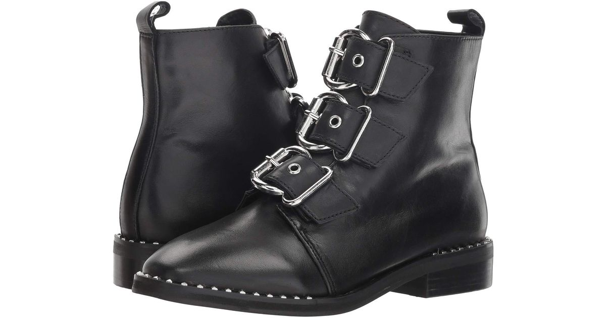 eb5cd2f2d93 Steve Madden Recharge Moto Bootie (black Leather) Boots