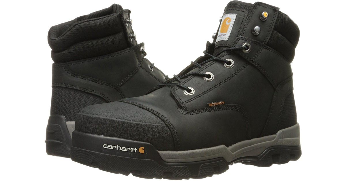 5f94ba48ba3 Carhartt Black 6 Ground Force Waterproof Composite Toe Work Boot for men