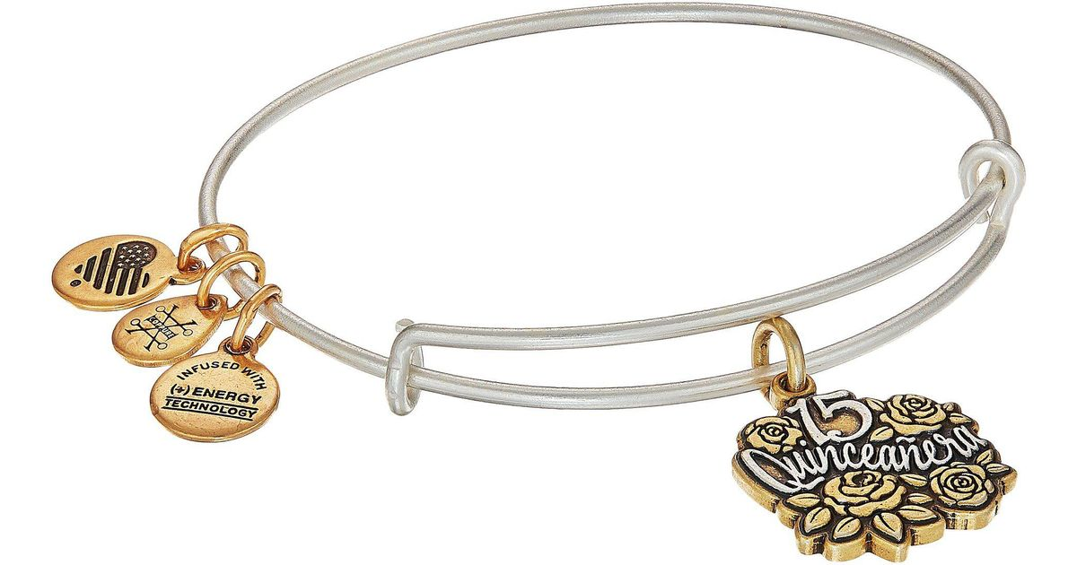 Lyst Alex And Ani Quinceanera Two Tone Bracelet In Metallic