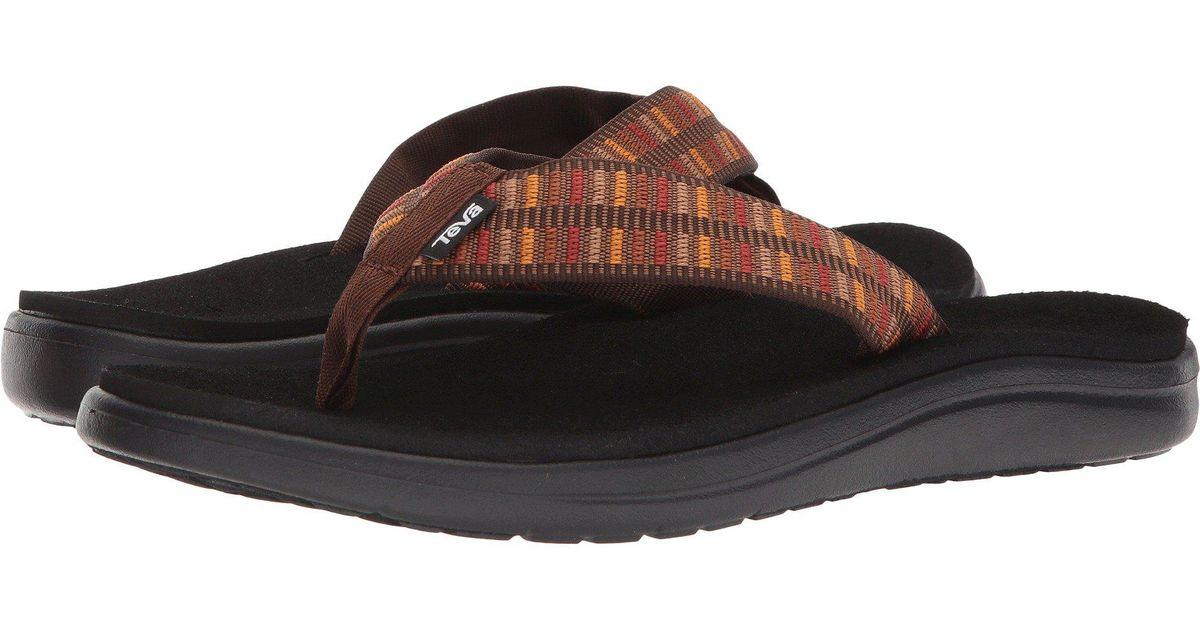 1e91f461816c5 Lyst - Teva Voya Flip (zook Black) Men s Sandals for Men - Save  4.166666666666671%