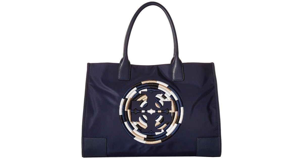 1278baa0c73 Lyst - Tory Burch Ella Rope Tote (french Navy) Tote Handbags in Blue