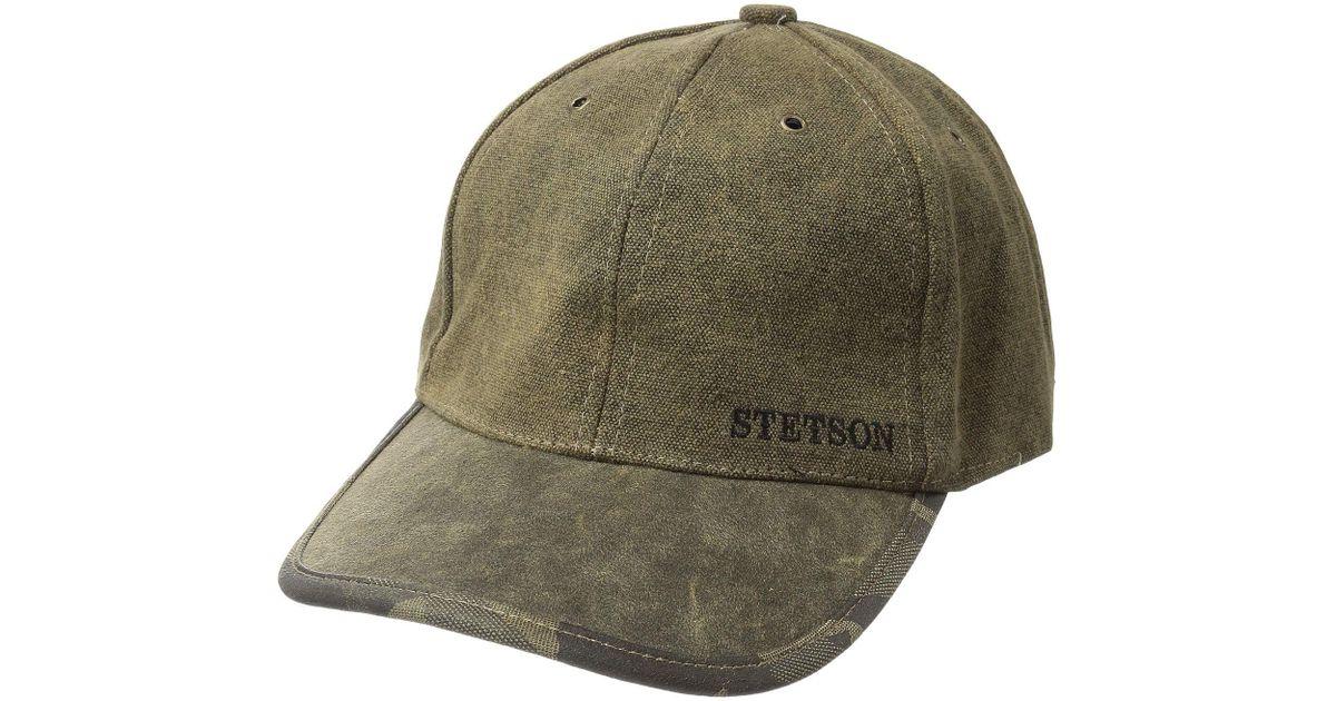 090a1840 Stetson Tarp Cloth Baseball Cap (brown) Caps in Brown for Men - Lyst
