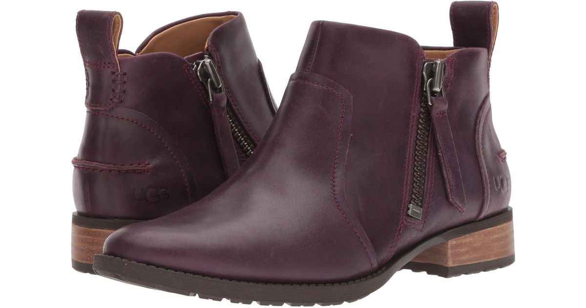 d3051f287bc28 Ugg Multicolor Aureo Boot (oxblood Leather) Women's Zip Boots