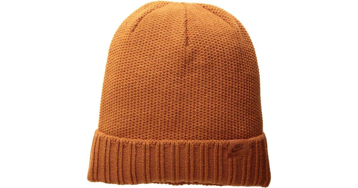 97819d3d7e7 Nike Nsw Beanie Honeycomb Pom (dark Russet/dark Russet) Beanies for Men -  Lyst