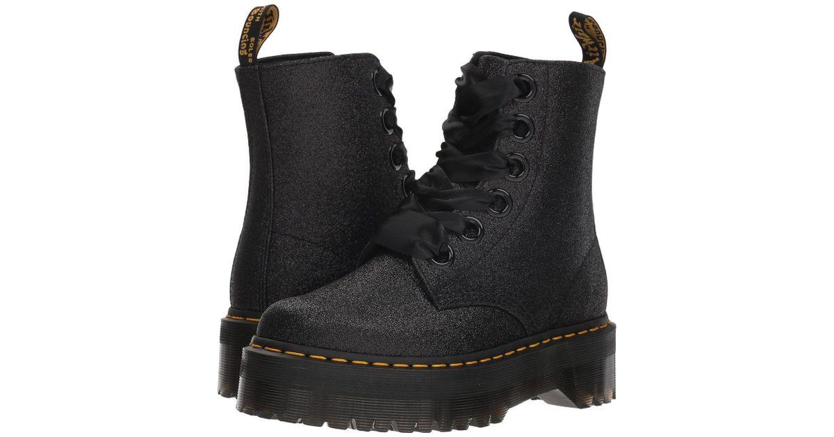 6fb2043a2 Dr. Martens Molly Glitter Quad Retro (green/black) Women's Boots in Black -  Lyst