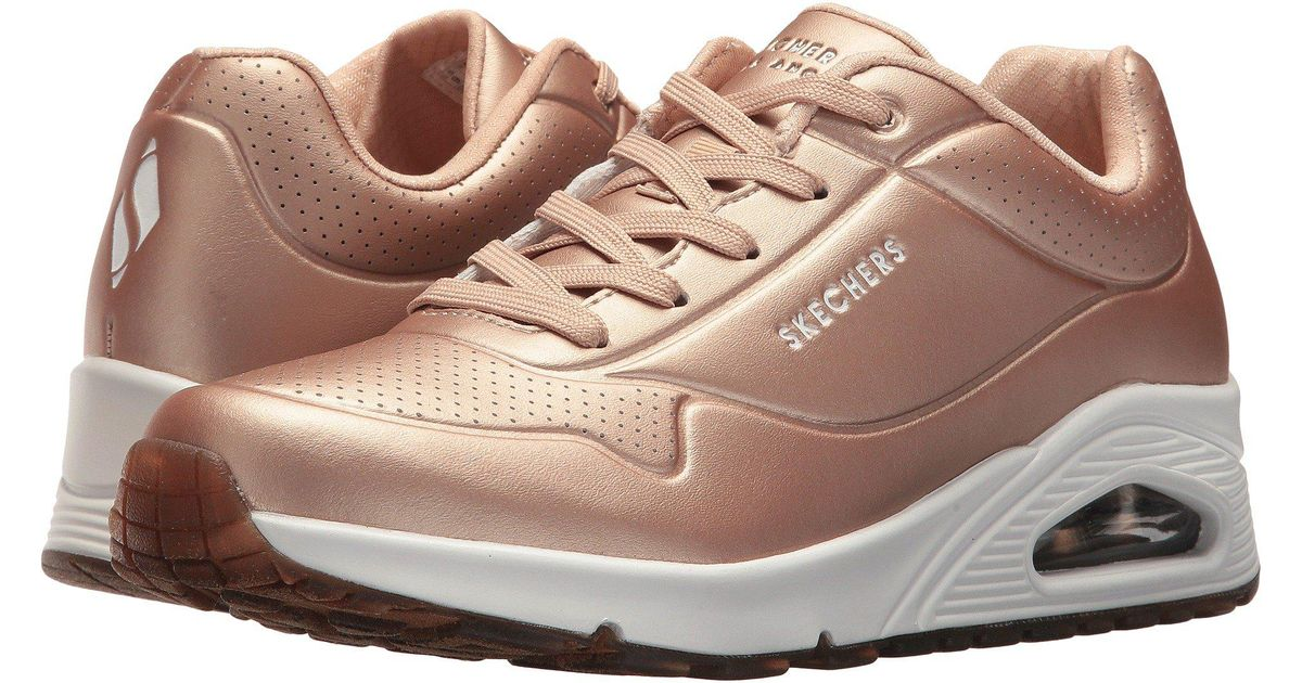 Skechers Leather Uno - Rose Bold in