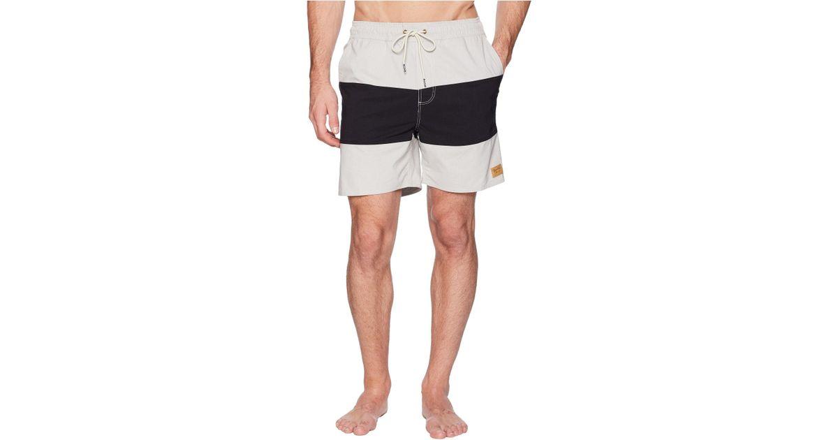 7211cd2f50 Brixton Havana Stripe Trunk (bone/black) Swimwear in Black for Men - Save  36% - Lyst